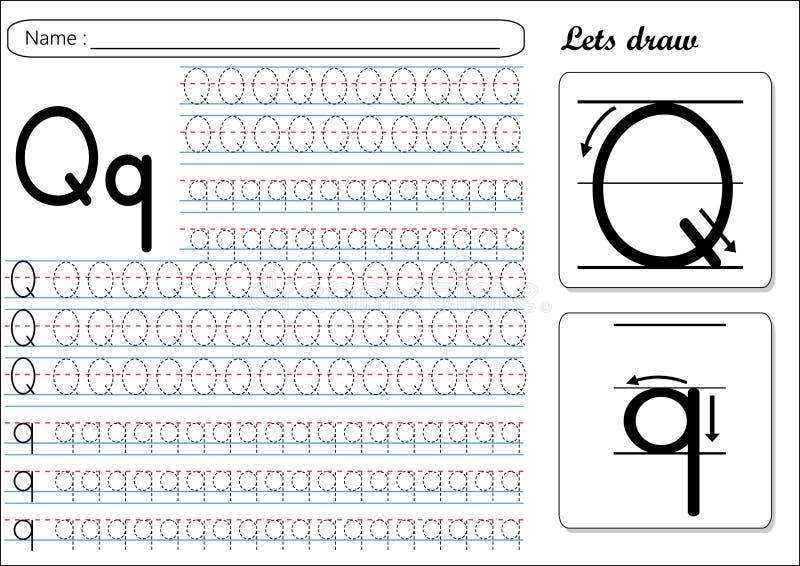 Επισημαίνοντας φύλλο εργασίας - Qq απεικόνιση αποθεμάτων