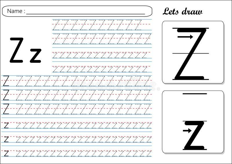 Επισημαίνοντας φύλλο εργασίας - Zz ελεύθερη απεικόνιση δικαιώματος