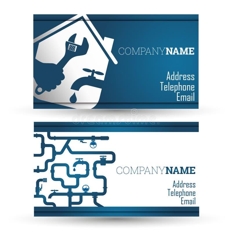 Επισκευή επαγγελματικών καρτών waterpipe απεικόνιση αποθεμάτων