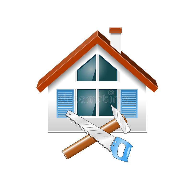 Επισκευή και κατασκευή των σπιτιών διανυσματική απεικόνιση