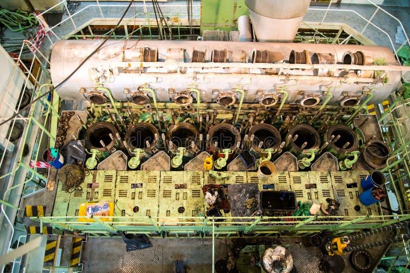 Επισκευή της θαλάσσιας μηχανής στοκ εικόνες με δικαίωμα ελεύθερης χρήσης