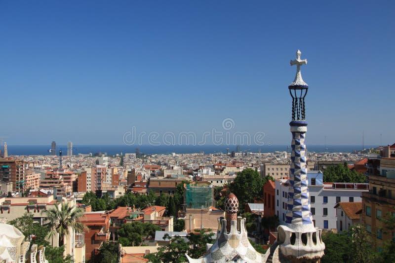 επισκόπηση πόλεων της Βαρκελώνης στοκ φωτογραφίες με δικαίωμα ελεύθερης χρήσης