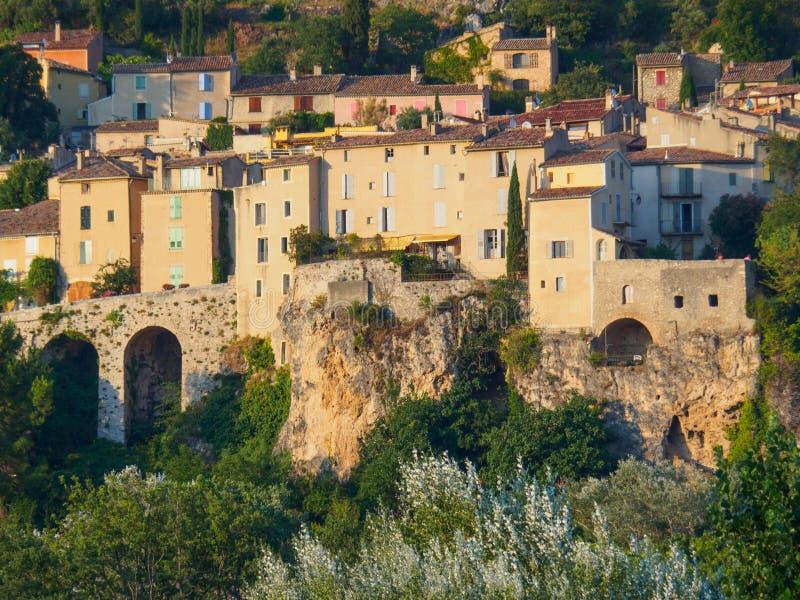 Επισκόπηση της moustiers-Sainte-Marie, Γαλλία στοκ εικόνα με δικαίωμα ελεύθερης χρήσης