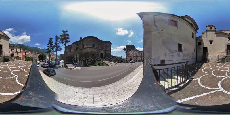 επισκόπηση 360 του κάστρου Faicchio στοκ εικόνες