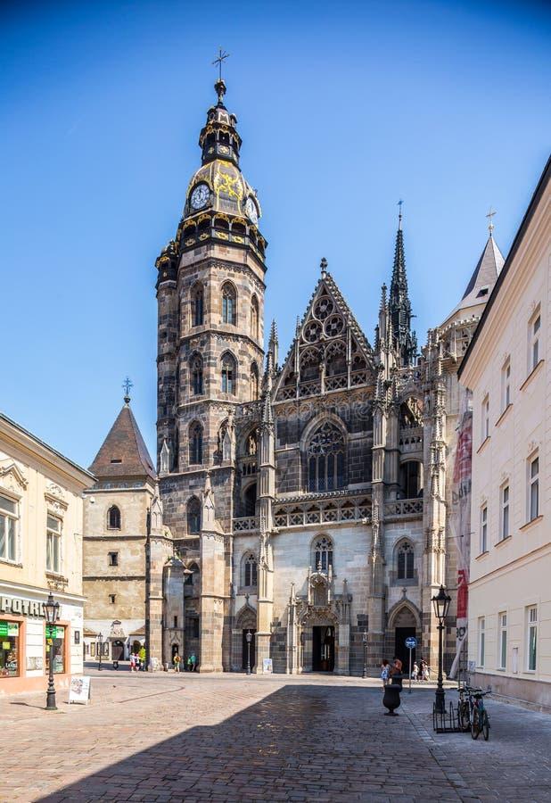 Επισκόπηση του καθεδρικού ναού του ST Elisabeth σε Kosice στοκ φωτογραφία με δικαίωμα ελεύθερης χρήσης