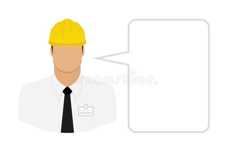 Επιστάτης εργατών οικοδομών απεικόνιση αποθεμάτων