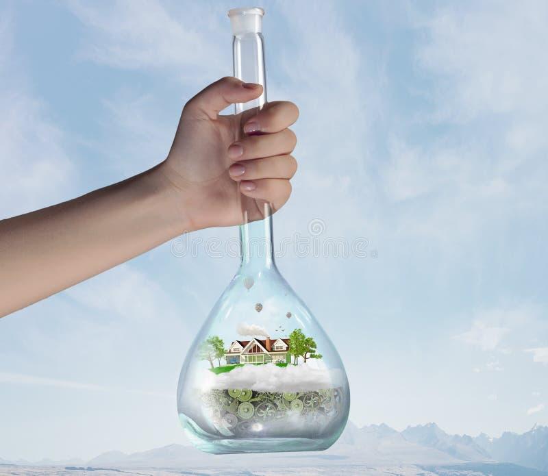 Επιστήμη για την πράσινη υγιή ζωή στοκ φωτογραφίες