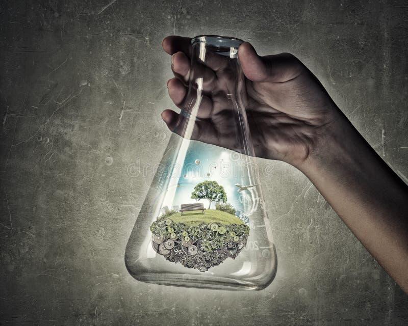 Επιστήμη για την πράσινη υγιή ζωή στοκ φωτογραφία με δικαίωμα ελεύθερης χρήσης