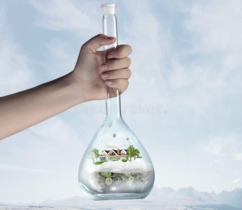Επιστήμη για την πράσινη υγιή ζωή στοκ εικόνα με δικαίωμα ελεύθερης χρήσης