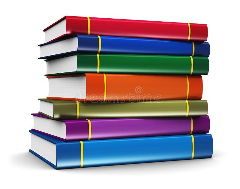 Σωρός των βιβλίων χρώματος ελεύθερη απεικόνιση δικαιώματος