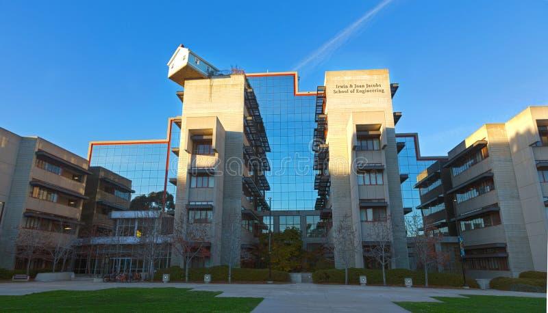 Επιστήμη και εφαρμοσμένη μηχανική που στηρίζονται στο Πανεπιστήμιο της Καλιφόρνιας την πανεπιστημιούπολη του Σαν Ντιέγκο UCSD στοκ εικόνες