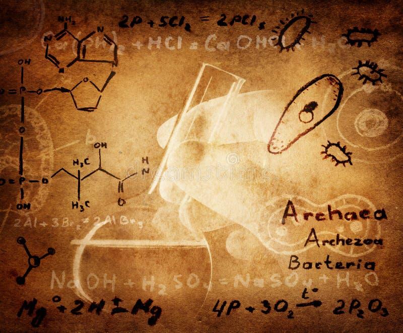 Επιστήμη και ιατρικό υπόβαθρο στοκ φωτογραφία με δικαίωμα ελεύθερης χρήσης