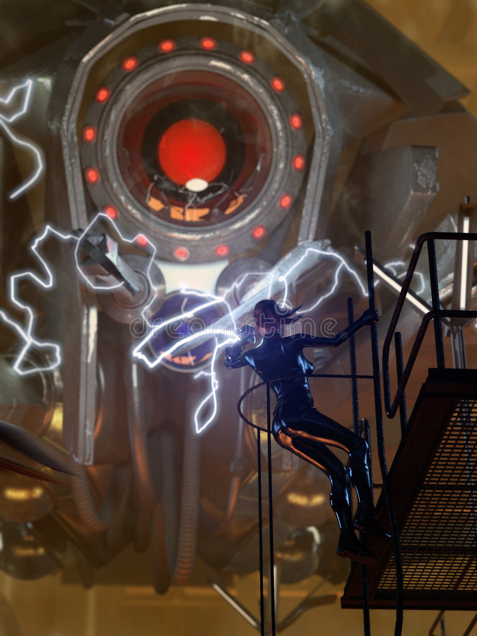 επιστήμη ρομπότ πάλης μυθι&sigma απεικόνιση αποθεμάτων
