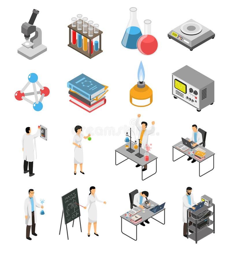 Επιστημονικά εργαστηριακά στοιχεία καθορισμένα ελεύθερη απεικόνιση δικαιώματος