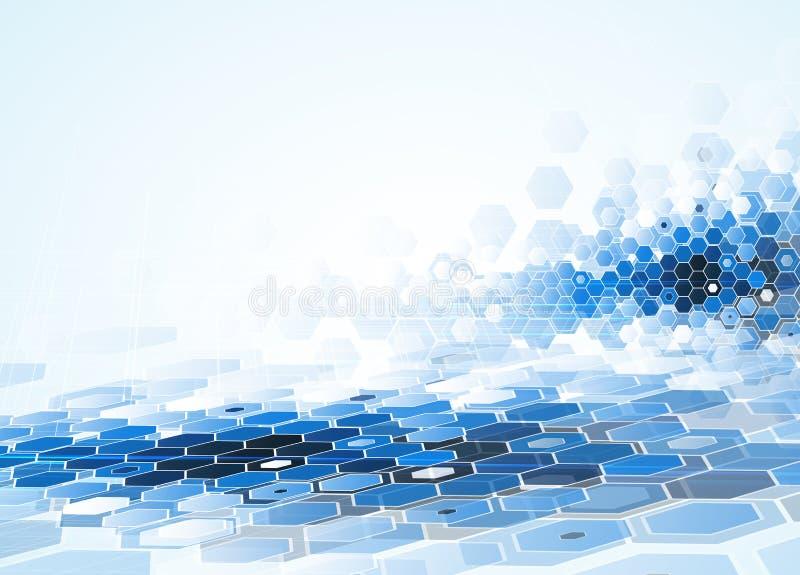 Επιστημονική μελλοντική τεχνολογία Για την επιχειρησιακή παρουσίαση Ιπτάμενο, ελεύθερη απεικόνιση δικαιώματος