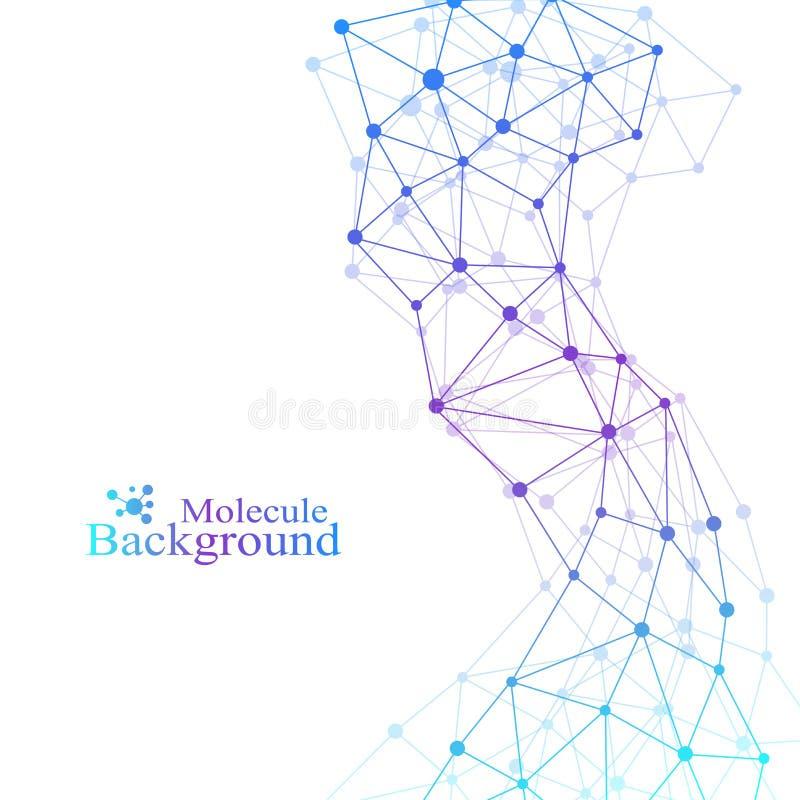 Επιστημονικό σχέδιο χημείας Έρευνα DNA μορίων δομών ως έννοια Υπόβαθρο επιστήμης και τεχνολογίας ελεύθερη απεικόνιση δικαιώματος