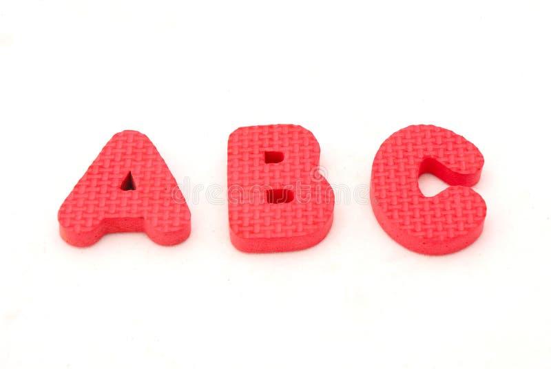 Επιστολές αλφάβητου ABC στοκ εικόνες