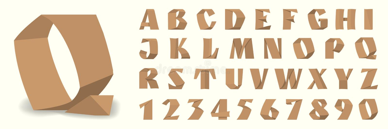 Επιστολές εγγράφου και αριθμοί του αλφάβητου στοκ εικόνες με δικαίωμα ελεύθερης χρήσης