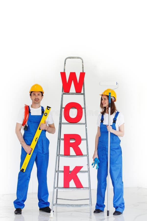 Επιστολές και εργαζόμενοι εργασίας στοκ φωτογραφία