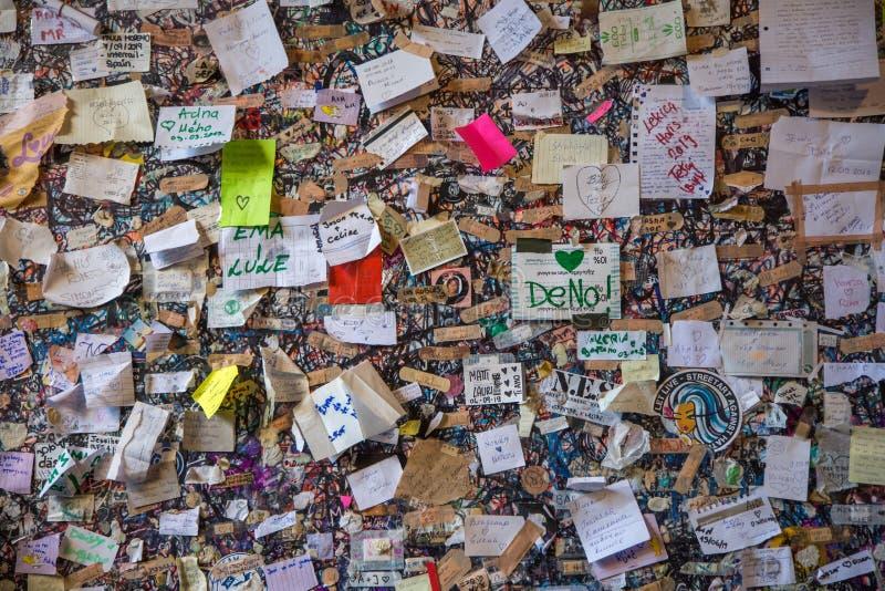 Επιστολές προς την Ιουλιέτα, τη Βερόνα, την Ιταλία στοκ φωτογραφίες με δικαίωμα ελεύθερης χρήσης