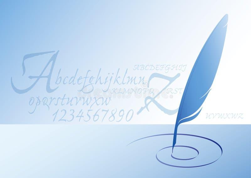 επιστολές φτερών διανυσματική απεικόνιση