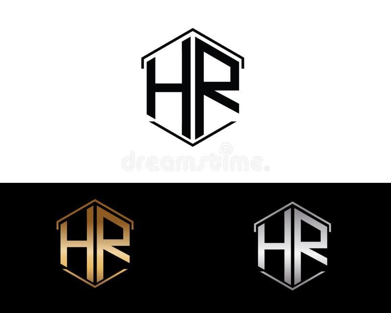 Επιστολές ωρ. που συνδέονται με το hexagon λογότυπο μορφής διανυσματική απεικόνιση