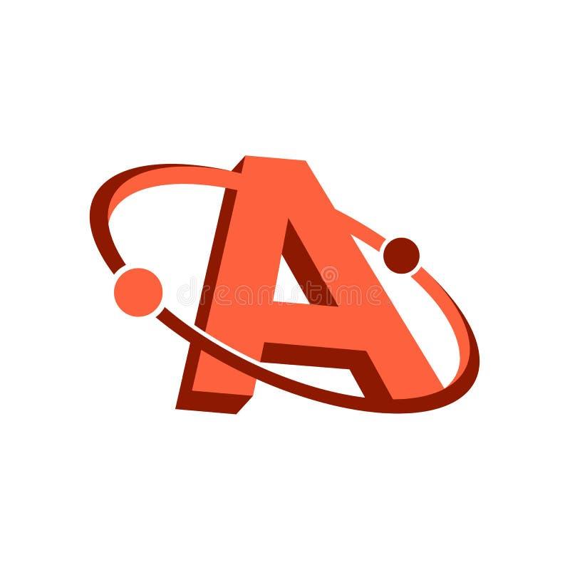 Επιστολή ένα λογότυπο Δημιουργικό σύγχρονο λογότυπο Illustra εικονιδίων επιστολών διανυσματικό διανυσματική απεικόνιση