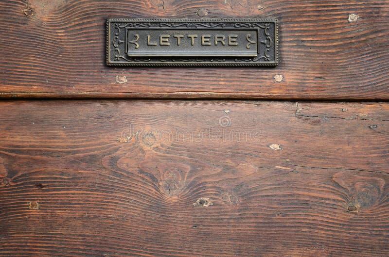 επιστολή κιβωτίων στοκ φωτογραφία