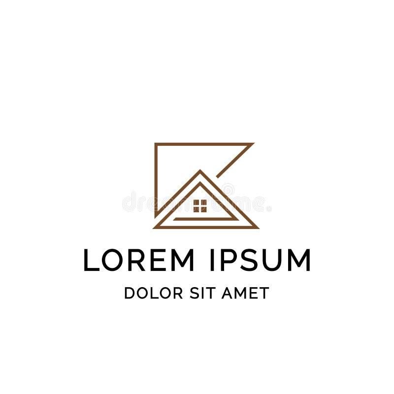 Επιστολή Κ με το εικονίδιο διαμορφωμένου σχεδίου προτύπων λογότυπων εγχώριων γραμμών του τέχνη απεικόνιση αποθεμάτων
