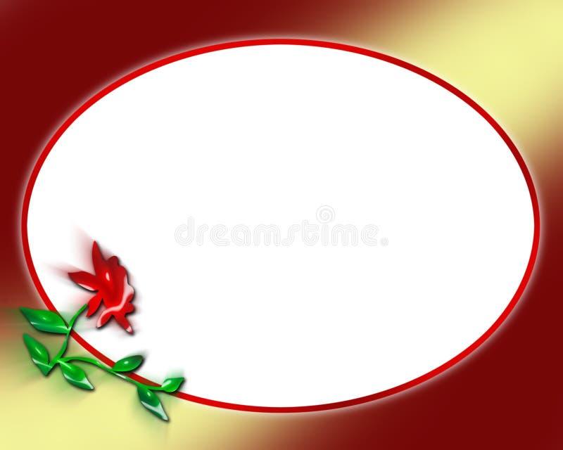 επιστολή πλαισίων λουλουδιών απεικόνιση αποθεμάτων