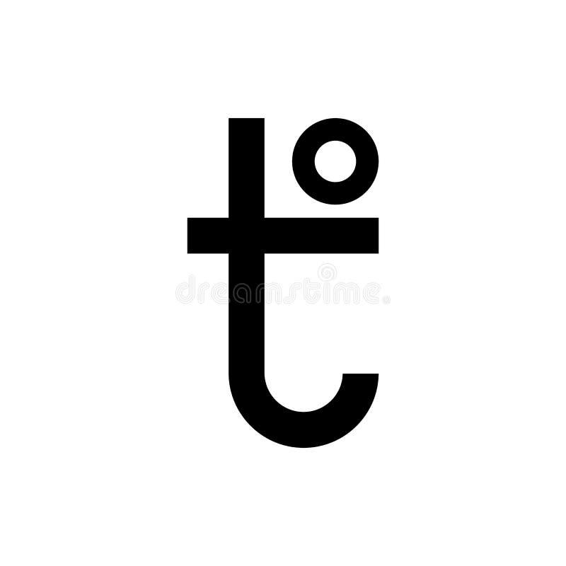 Επιστολή σημαδιών Τ θερμοκρασίας Εικονίδιο της φυσικής έκφρασης ποσότητας καυτής και κρύας Επίπεδη διανυσματική απεικόνιση σχεδίο ελεύθερη απεικόνιση δικαιώματος