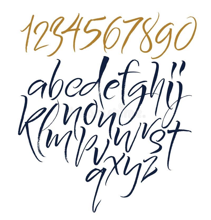 Επιστολές αλφάβητου: πεζός, κεφαλαίος, αριθμοί στοιχεία αλφάβητου που το διάνυσμα απεικόνιση αποθεμάτων