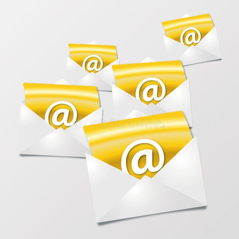 Επιστολές και ηλεκτρονικά ταχυδρομεία ελεύθερη απεικόνιση δικαιώματος