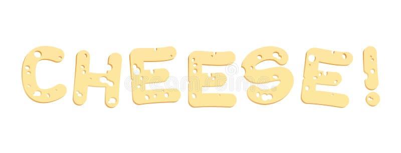 Επιστολές τυριών διανυσματική απεικόνιση