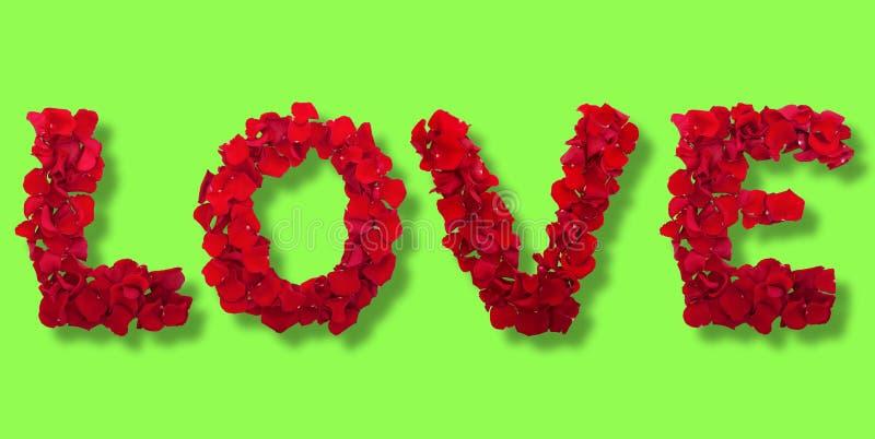 Επιστολές των πετάλων λουλουδιών αγάπης στοκ φωτογραφία με δικαίωμα ελεύθερης χρήσης