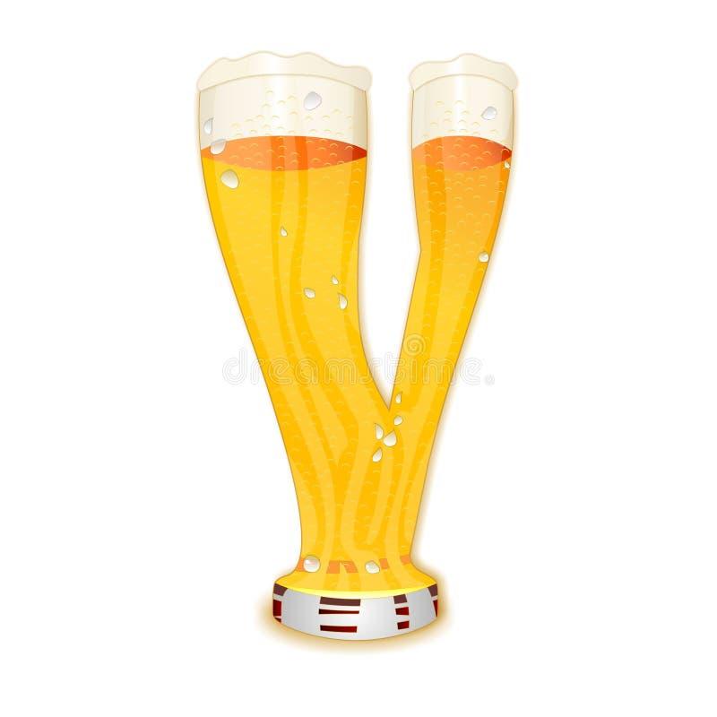 Επιστολή Β αλφάβητου μπύρας διανυσματική απεικόνιση