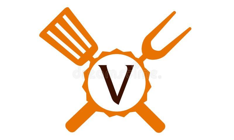Επιστολή Β εστιατορίων λογότυπων ελεύθερη απεικόνιση δικαιώματος