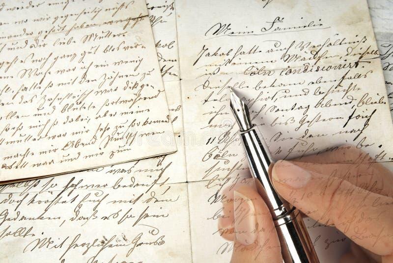 επιστολή παλαιά στοκ εικόνες