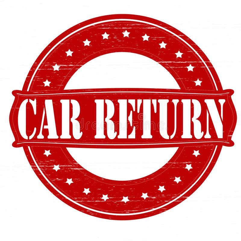 Επιστροφή αυτοκινήτων διανυσματική απεικόνιση