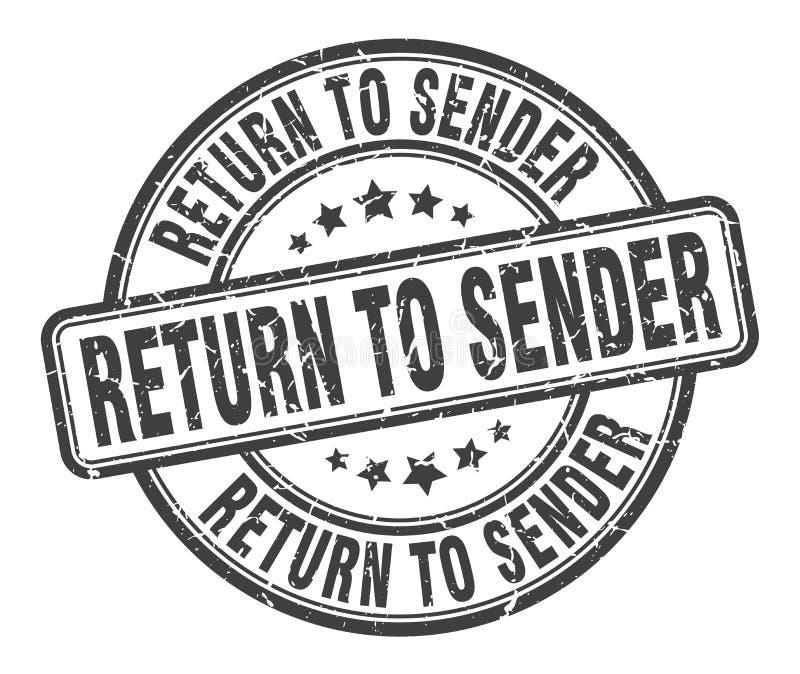 επιστροφή στο γραμματόσημο αποστολέων απεικόνιση αποθεμάτων