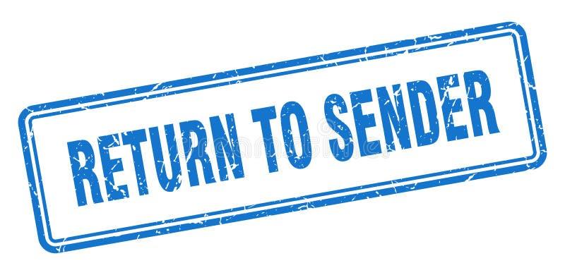 επιστροφή στο γραμματόσημο αποστολέων ελεύθερη απεικόνιση δικαιώματος