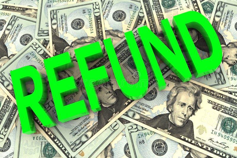 Επιστροφή στο υπόβαθρο χρημάτων απεικόνιση αποθεμάτων