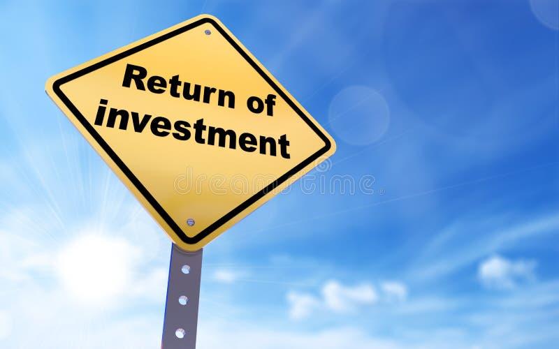 Επιστροφή του σημαδιού επένδυσης ελεύθερη απεικόνιση δικαιώματος