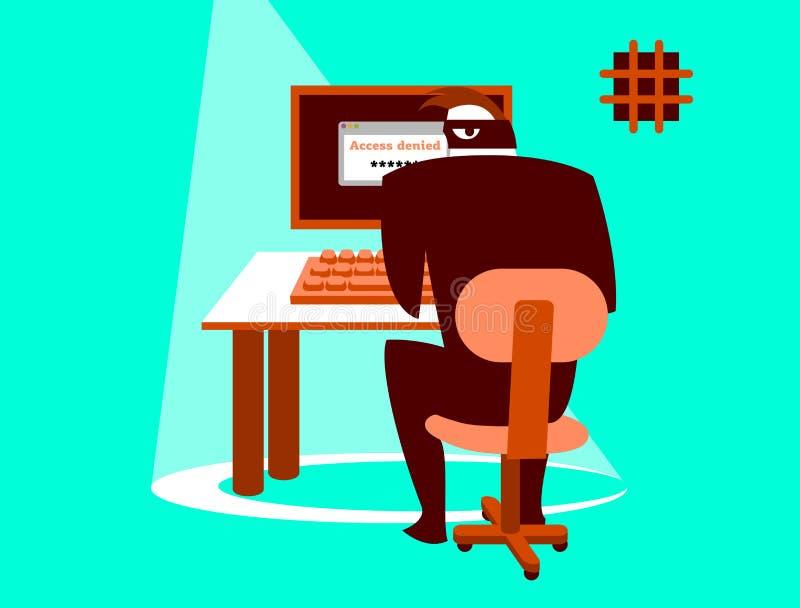 Επισφαλής αλληλογραφία Ασφάλεια πληροφοριών Προσεκτικά χάκερ! απεικόνιση αποθεμάτων