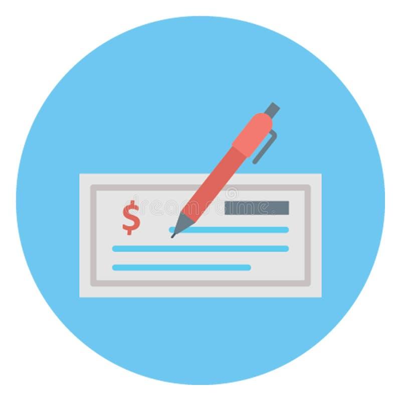 Επιταγή τράπεζας, απομονωμένο έλεγχος διανυσματικό εικονίδιο που μπορεί να εκδοθεί εύκολα διανυσματική απεικόνιση