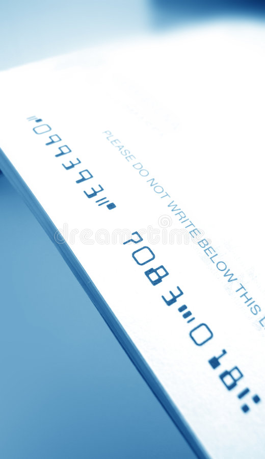 επιταγή τραπεζών στοκ φωτογραφίες με δικαίωμα ελεύθερης χρήσης