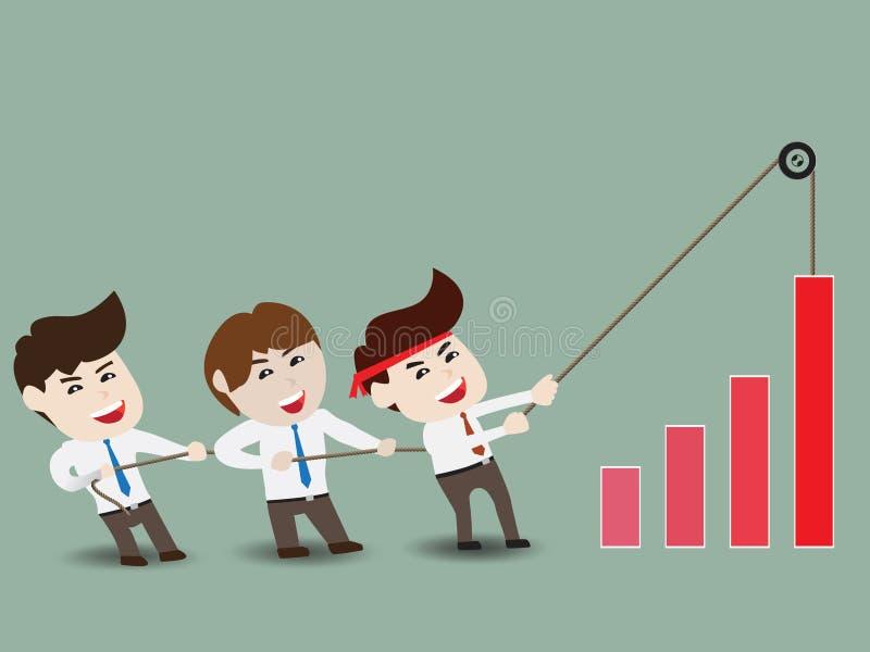 Επιταχύνετε την επιχειρησιακή αύξηση διανυσματική απεικόνιση