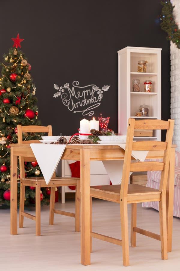 Επιτραπέζια διακόσμηση γευμάτων Noel στοκ εικόνες με δικαίωμα ελεύθερης χρήσης