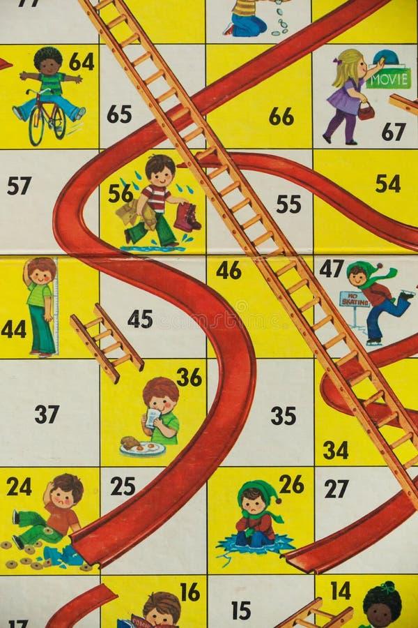 επιτραπέζια παιχνίδια της δεκαετίας του '80 - υδατοπτώσεις και σκάλες στοκ φωτογραφίες