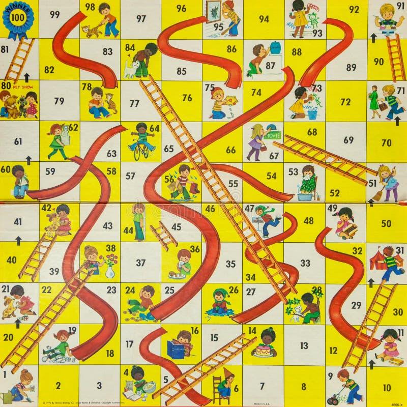 επιτραπέζια παιχνίδια της δεκαετίας του '80 - υδατοπτώσεις και σκάλες στοκ εικόνα